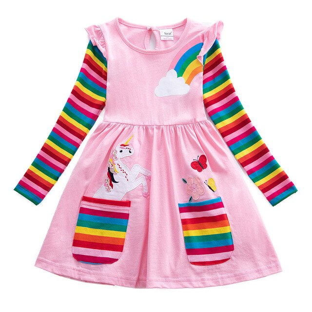 Fairy Rainbow Unicorn Dress Girls