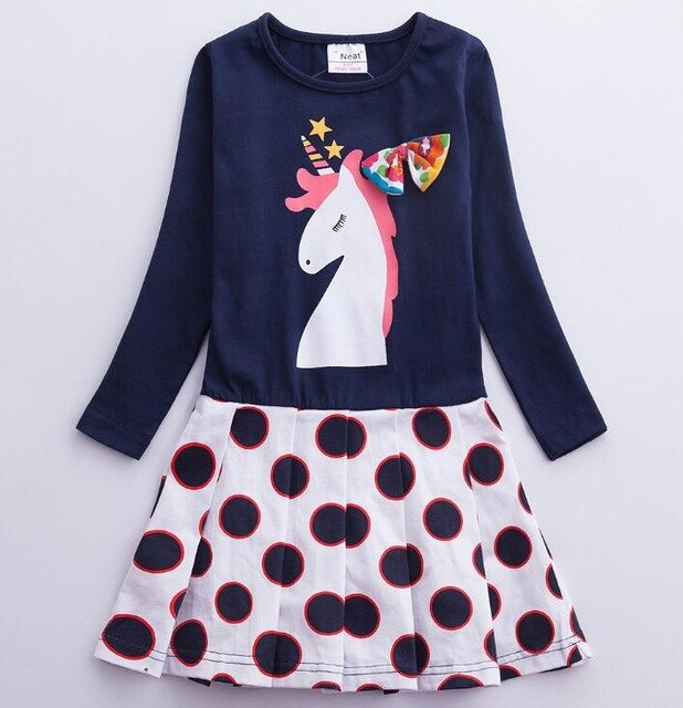 Cute Unicorn Dress Cotton Kids