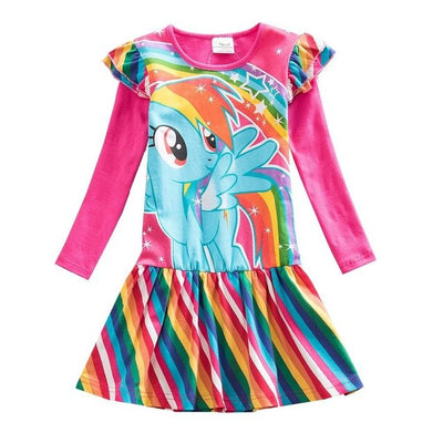 Colorful Unicorn Dress for Toddlers