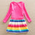 Cartoon Unicorn Dress Toddlers