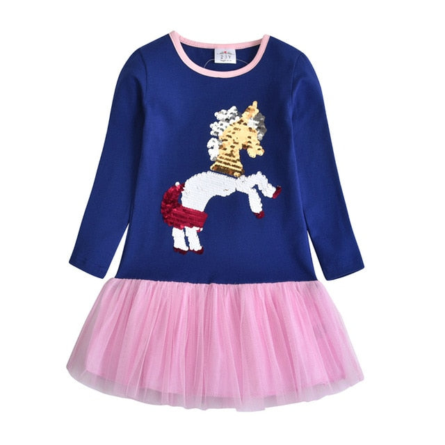 Casual Unicorn Dress for Toddlers
