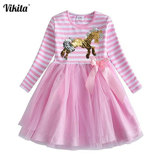 Casual Unicorn Dress for Girls