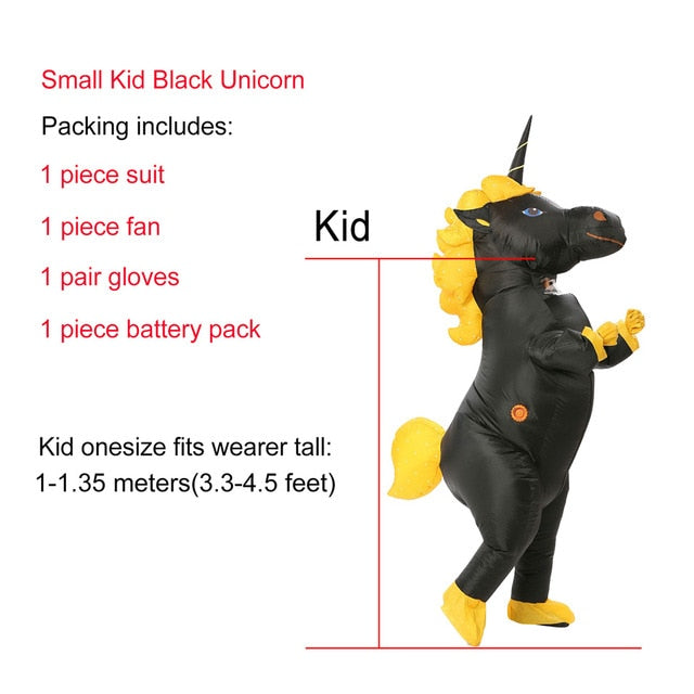 Black Unicorn Inflatable Costume Halloween