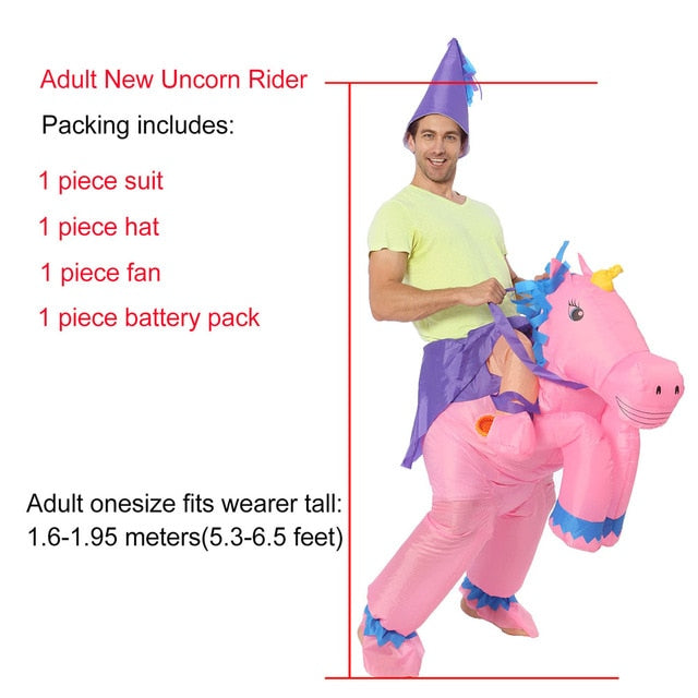 Pink Unicorn Inflatable Costume Adult
