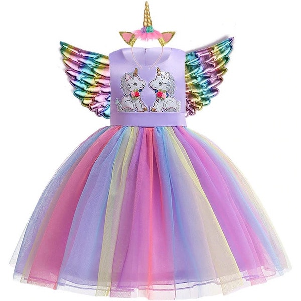 Rainbow Unicorn Dress Girls and Toddlers