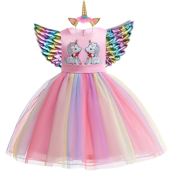 Rainbow Unicorn Dress Tutu for Girls