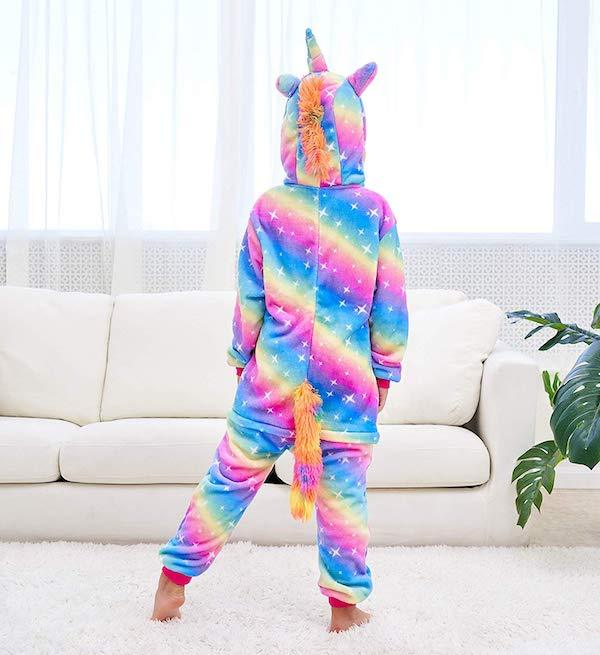 Rainbow Unicorn Onesie Costume Kids