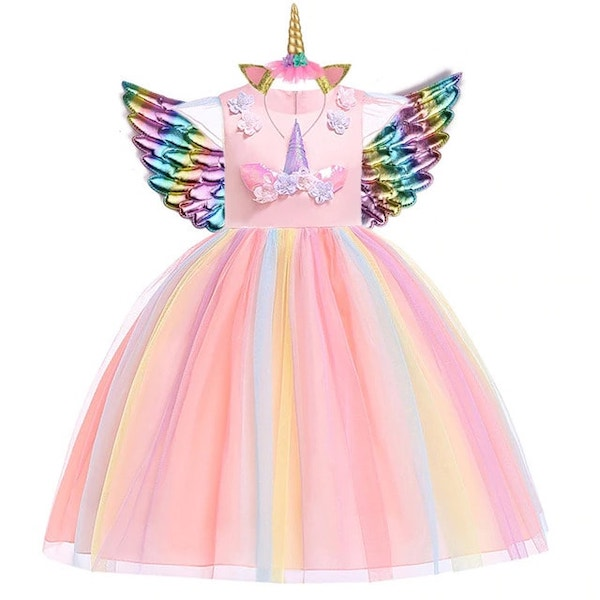 Unicorn Birthday Party Dress for Girls
