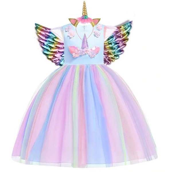 Unicorn Fancy Dress Girls Toddlers
