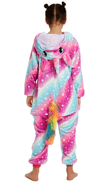 Unicorn Onesie Costume Pajama Party Back
