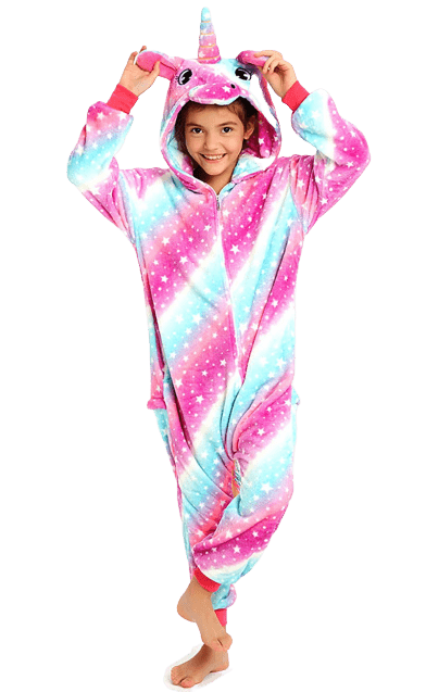 Unicorn Onesie Costume Pajama Party