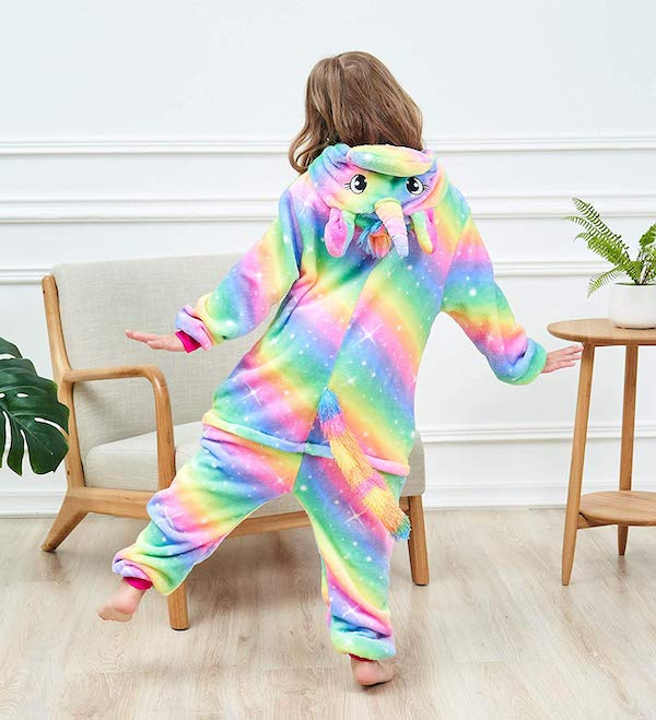 Unicorn Onesie Rainbow Pajama Kids