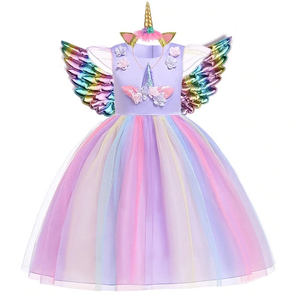 Unicorn Party Dress for Girls Toddlers