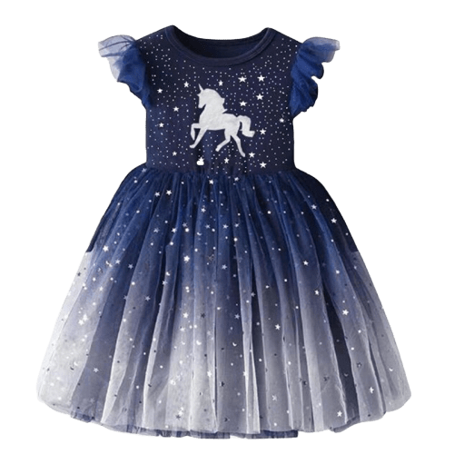 Unicorn Princess Dress Baby Girl