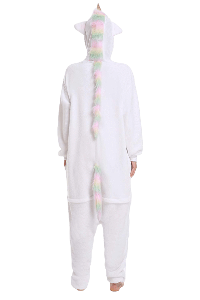 White Unicorn Onesie Costume Adult