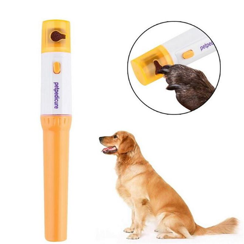 2019 Pet Dog Cat Electric Nail Claw Grooming Grinder Trimmer Clipper File Pet Nail Scissors Professional Painless Nail Clipper