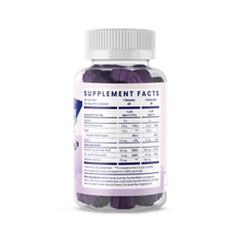 Load image into Gallery viewer, Supplement facts for kids elderberry vitamin bottle