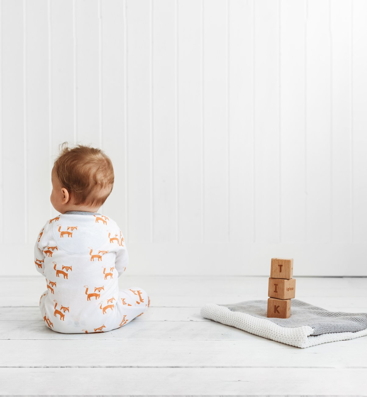 Fox All-in-one onesie 12 to 18 months