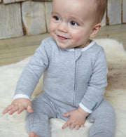 Grey All-in-one durable onesie 0 to 3 months