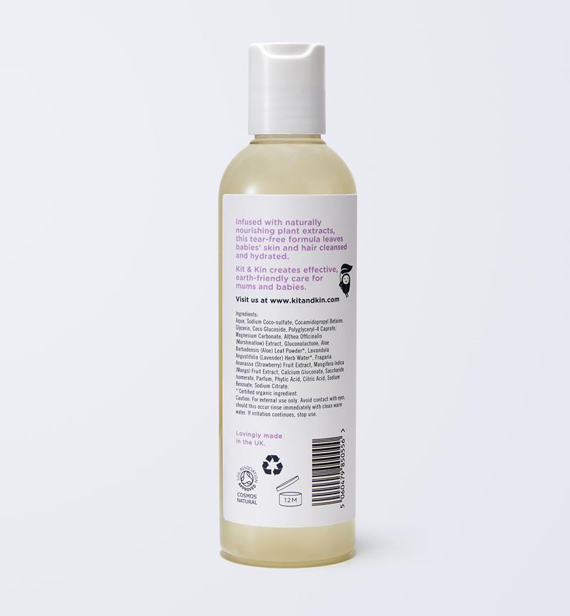 Cleansing and softening hair & body wash
