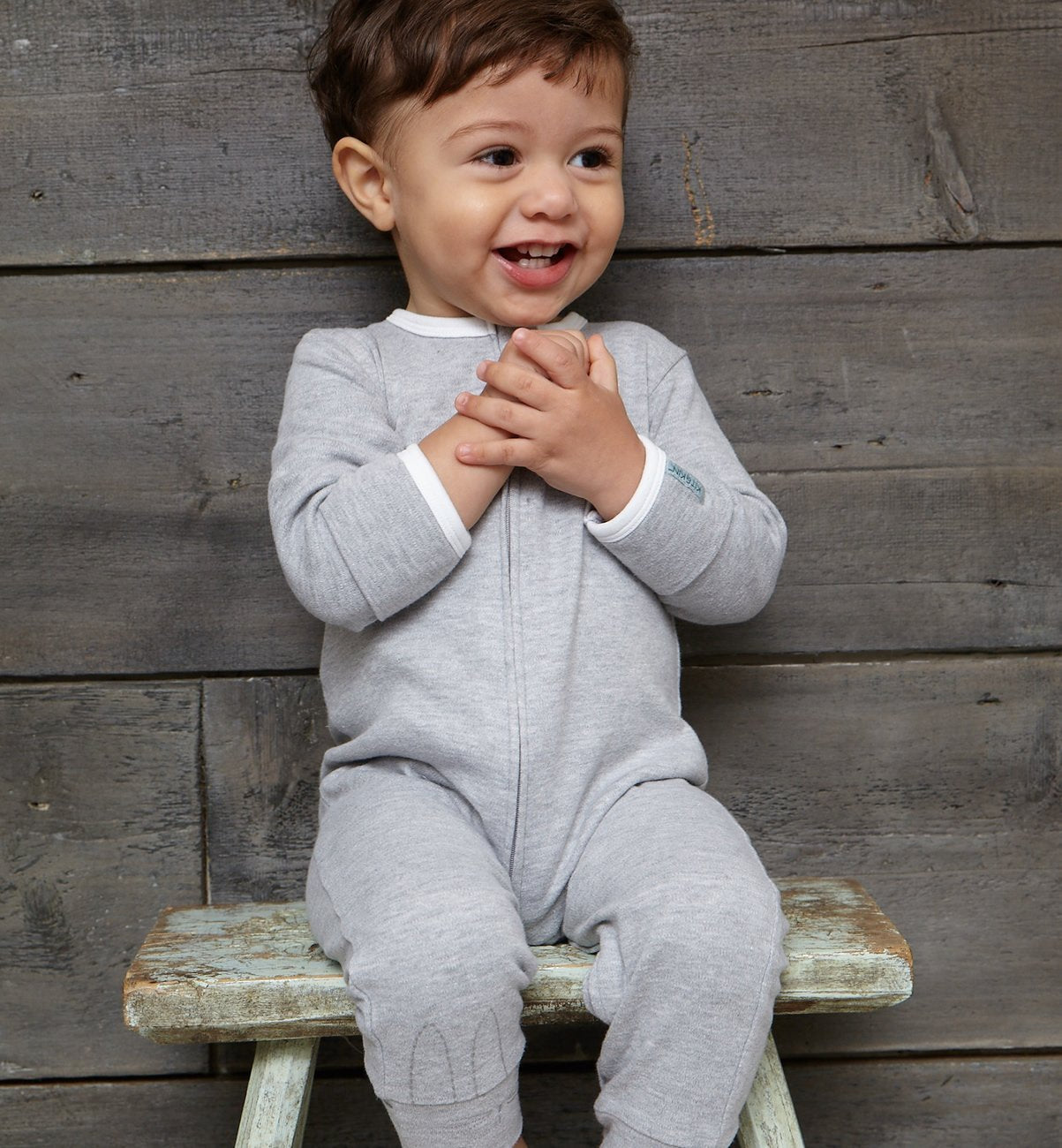Kit & Kin organic cotton grey All-in-one