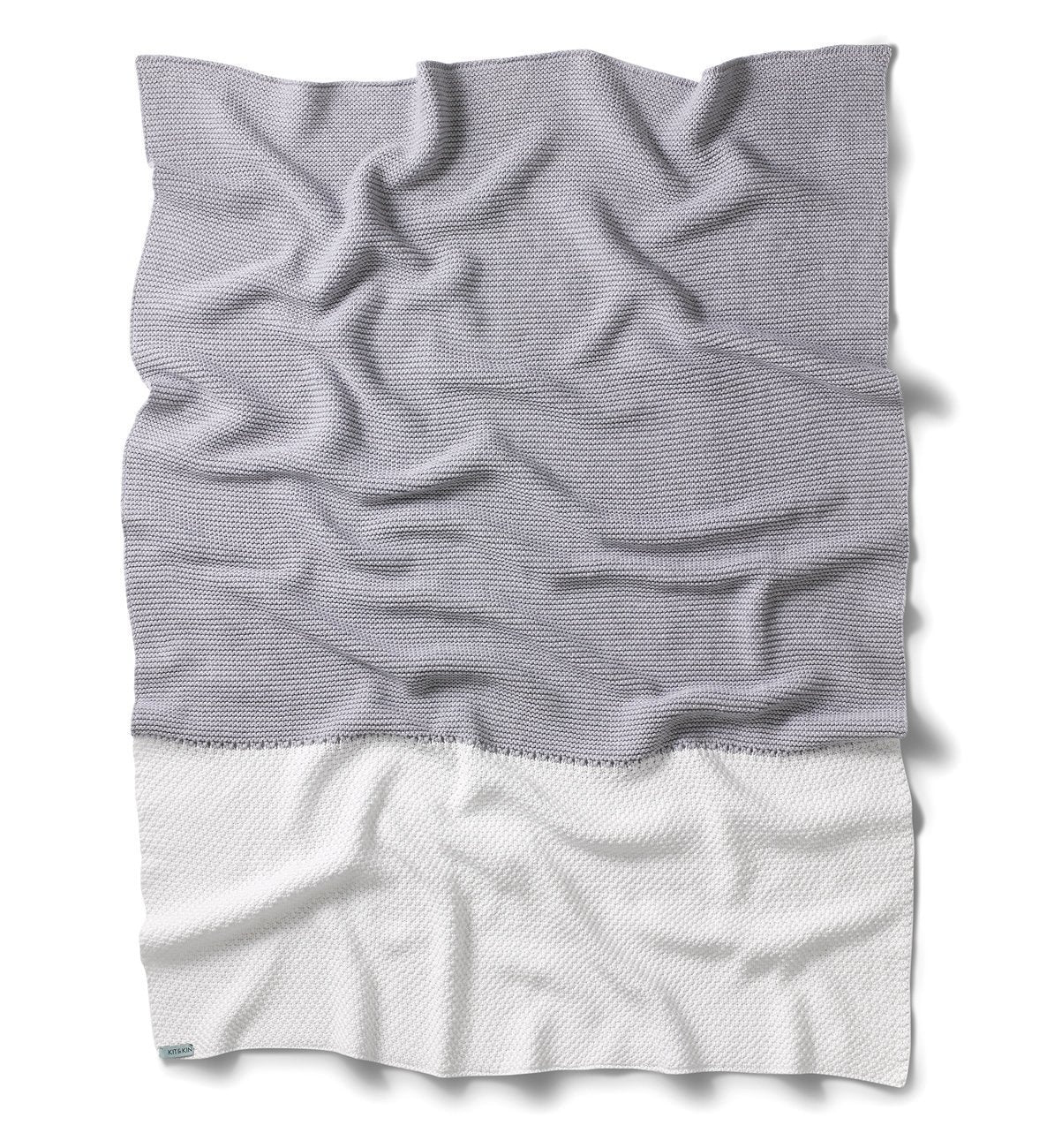 Chunky knit grey blanket