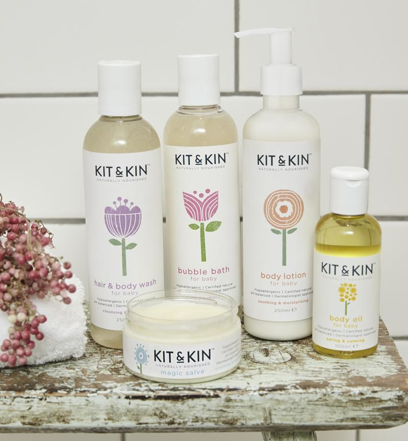 Kit and Kin natural baby skincare products starter pack