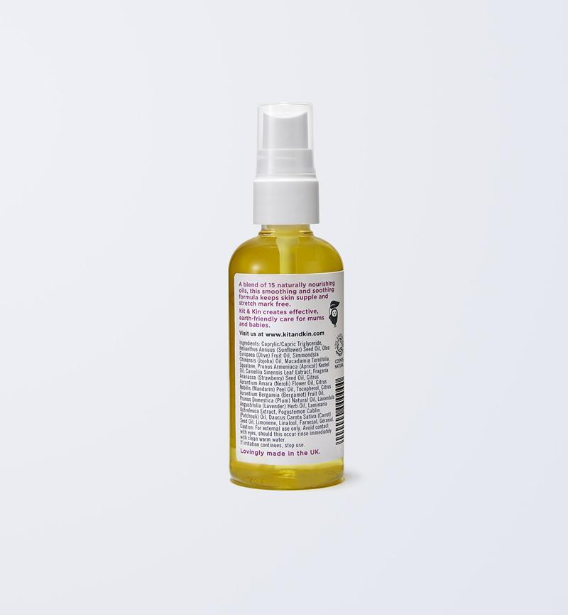Stretch mark oil boosts elasticity