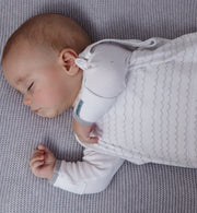 Breathable fabric grey sleeping bag 0 to 6 months