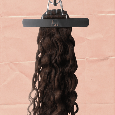 "200g 20"" CHOCOLATE BROWN (4) CLIP-IN EXTENSIONS - WAVY"