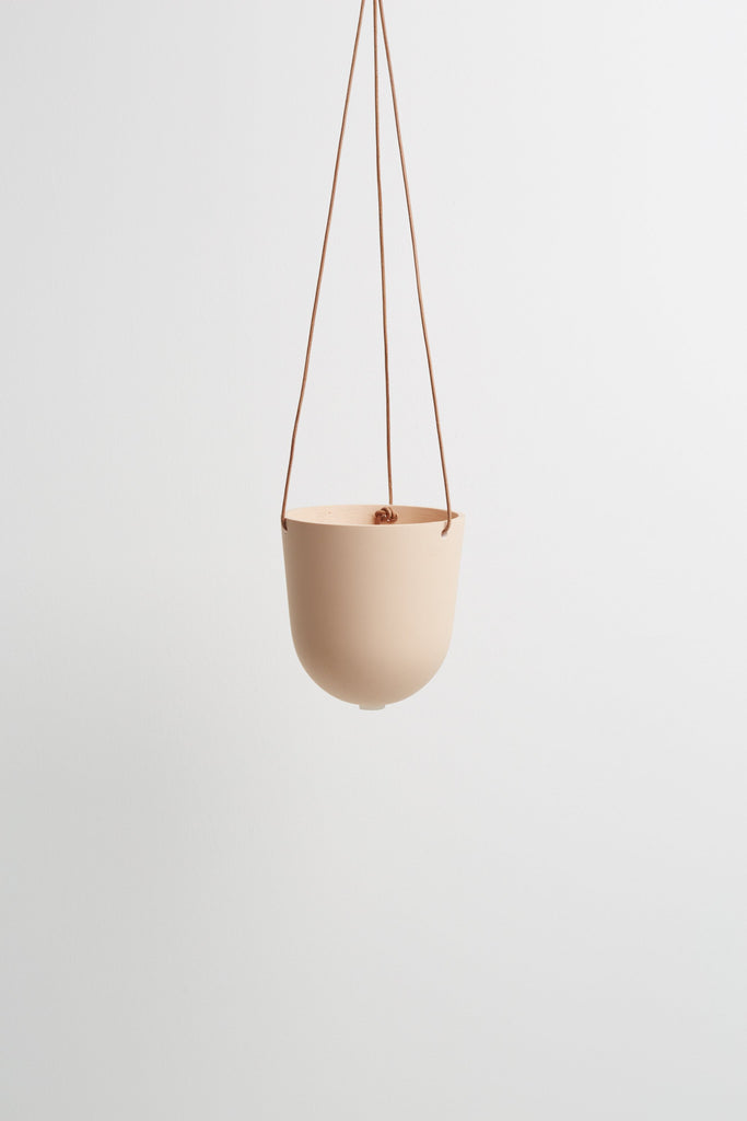 Block Colour Hanging Pot - Salt