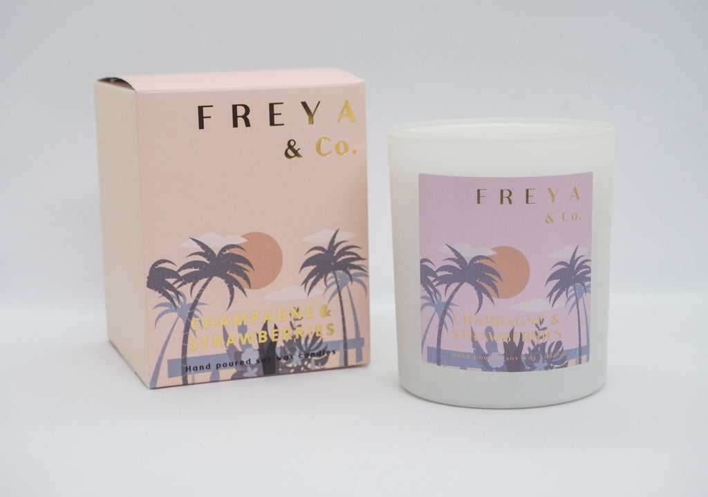 Freya & Co Classic Collection Candle - Champagne & Strawberries