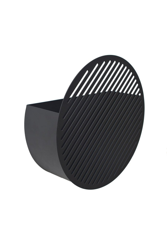 Diagonal Wall Basket - Large Black
