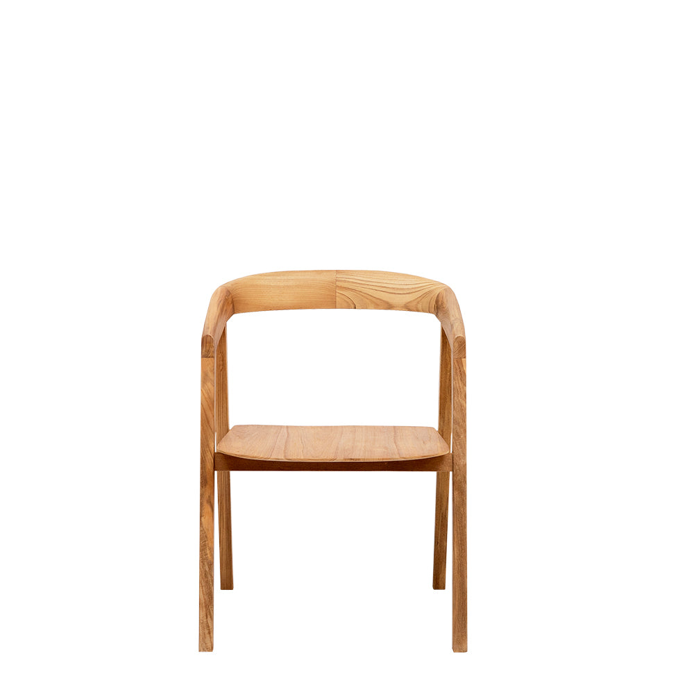 Satara Living Logan Arc Armchair - Teak