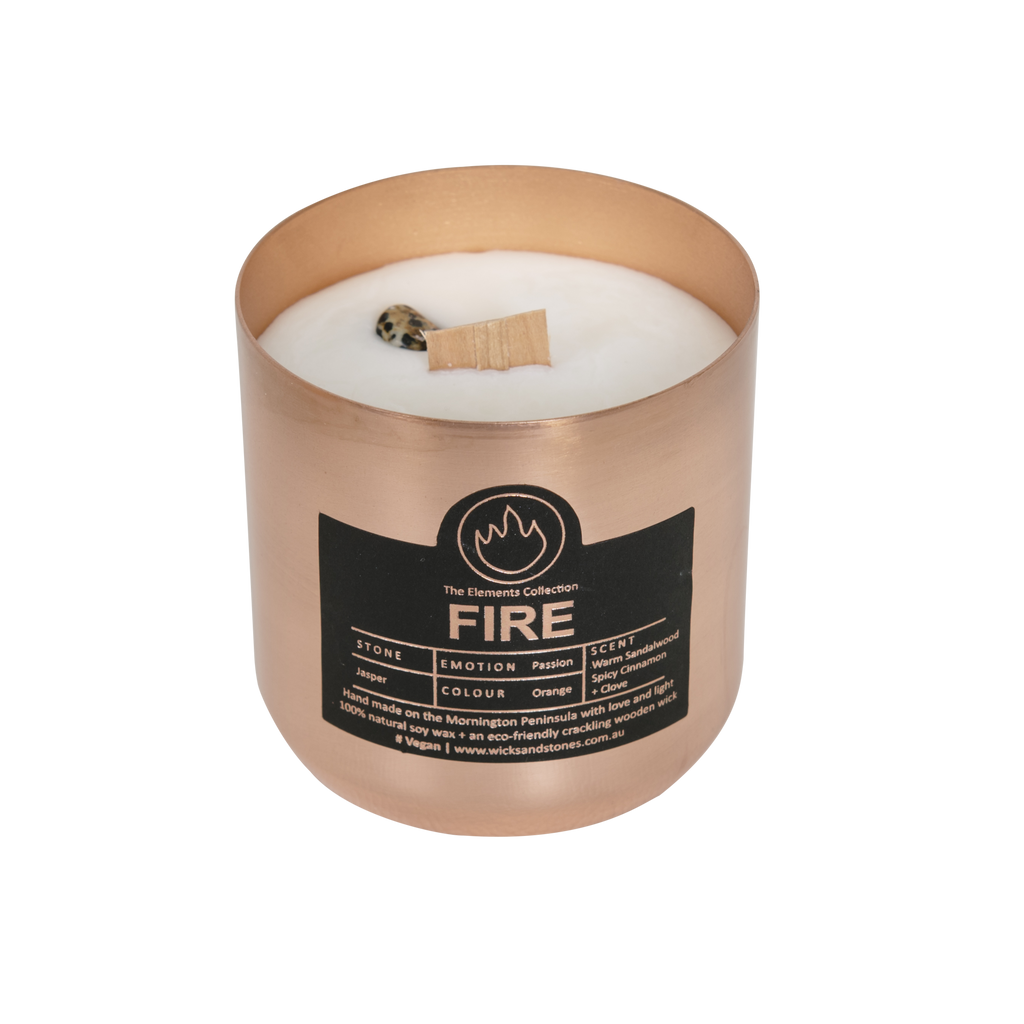 Fire. Warm Sandalwood, Spicy Cinnamon + Clove - JASPER