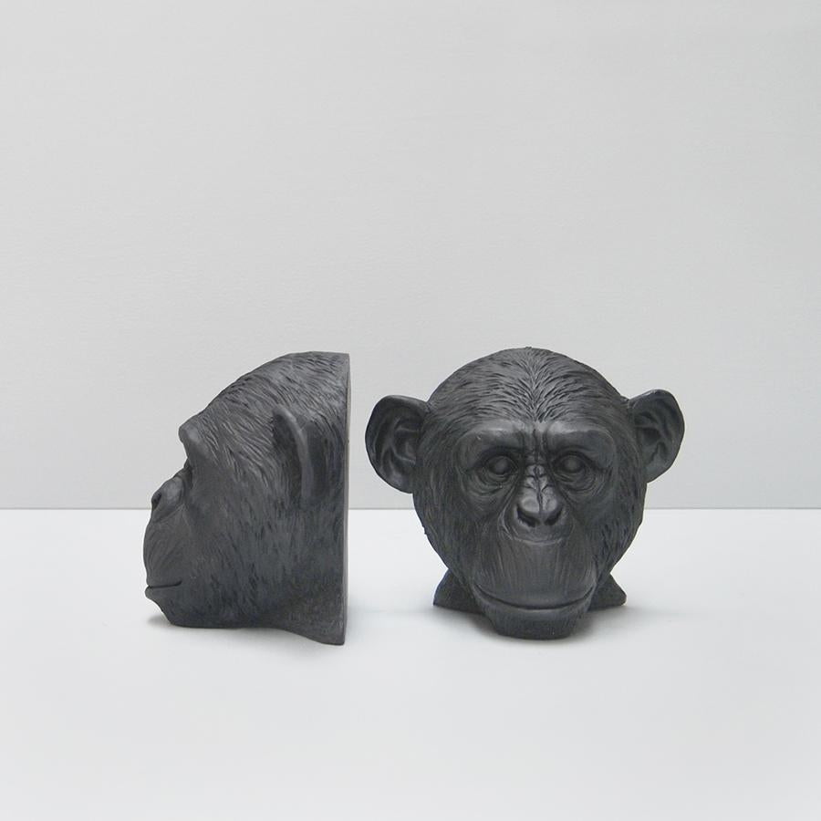 Monkey Bookends - Black