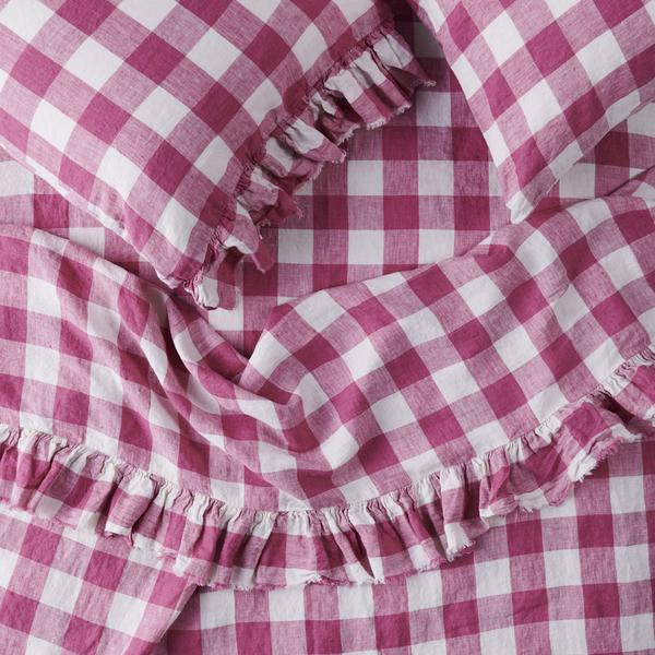 FUCHSIA GINGHAM *new ~ Sheets
