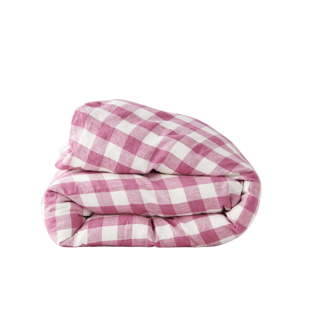 FUCHSIA GINGHAM *new ~ Duvet Cover
