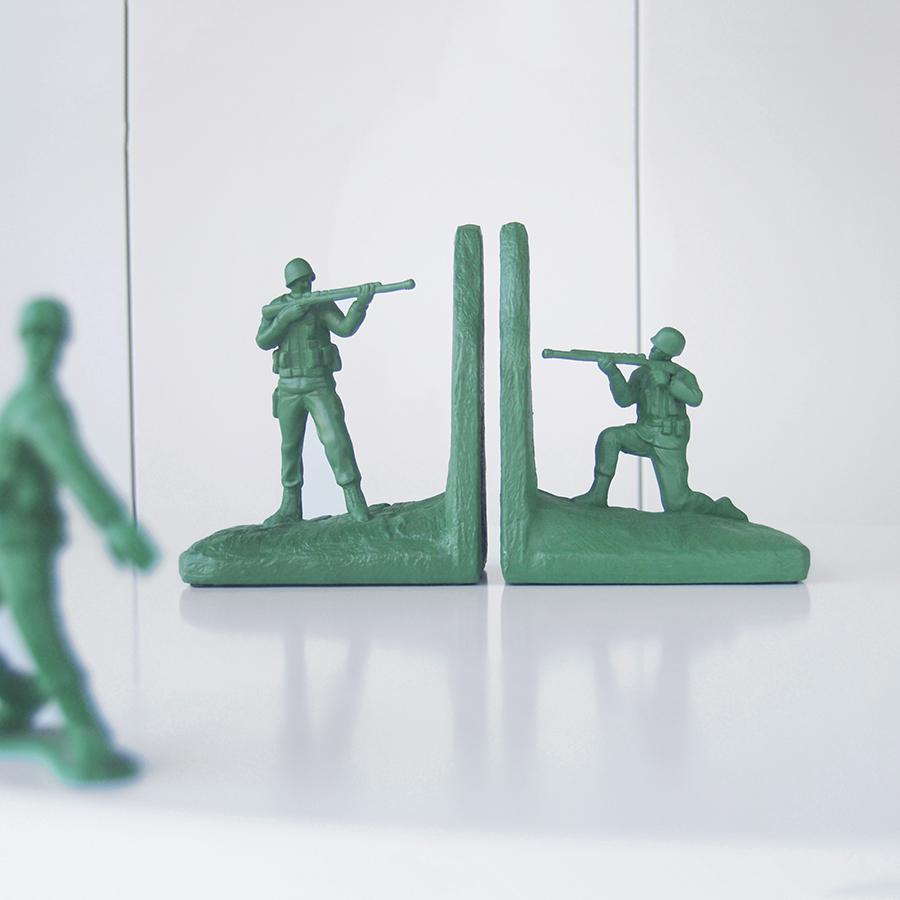 White Moose - Soldier Bookends - Green