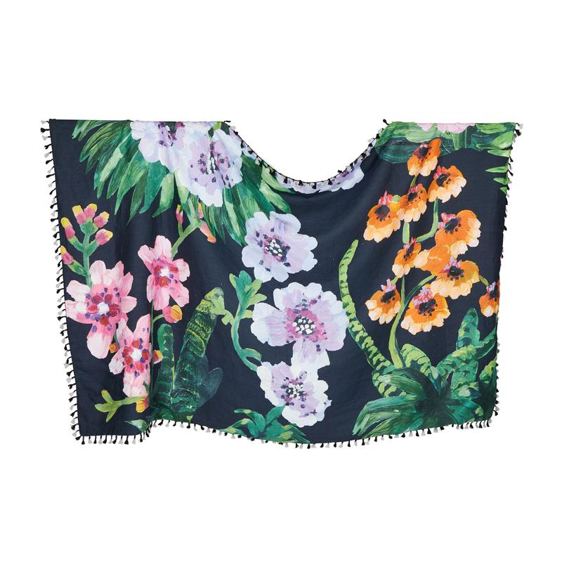 TROPICAL NAVY THROW