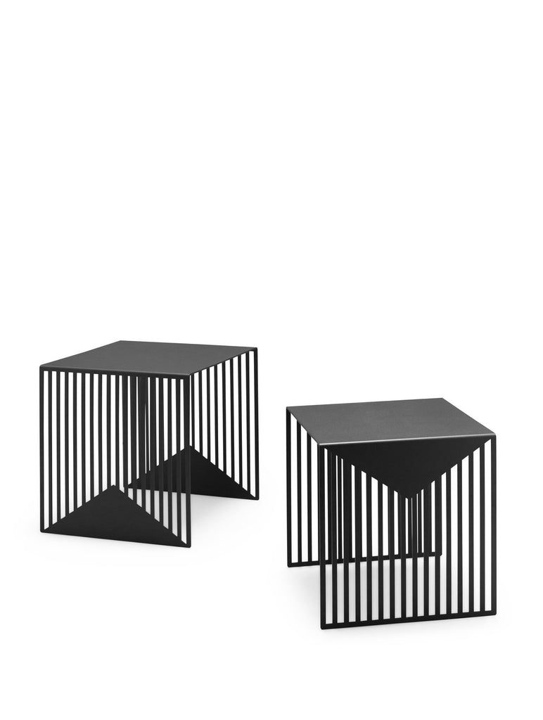 Zick Zack - Black nesting table set