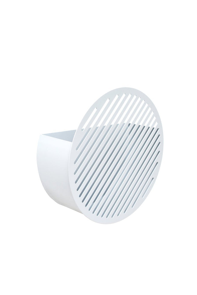Diagonal Wall Basket - Medium White