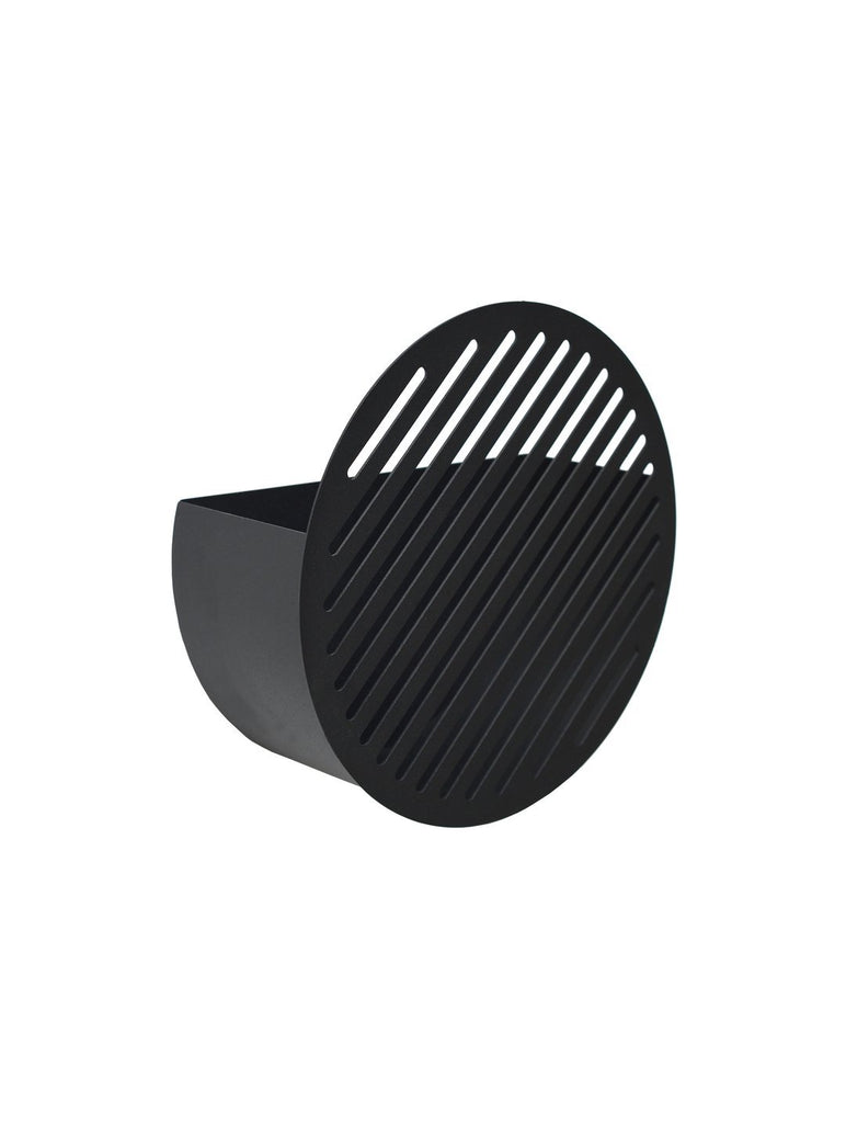 Diagonal Wall Basket - Small Black
