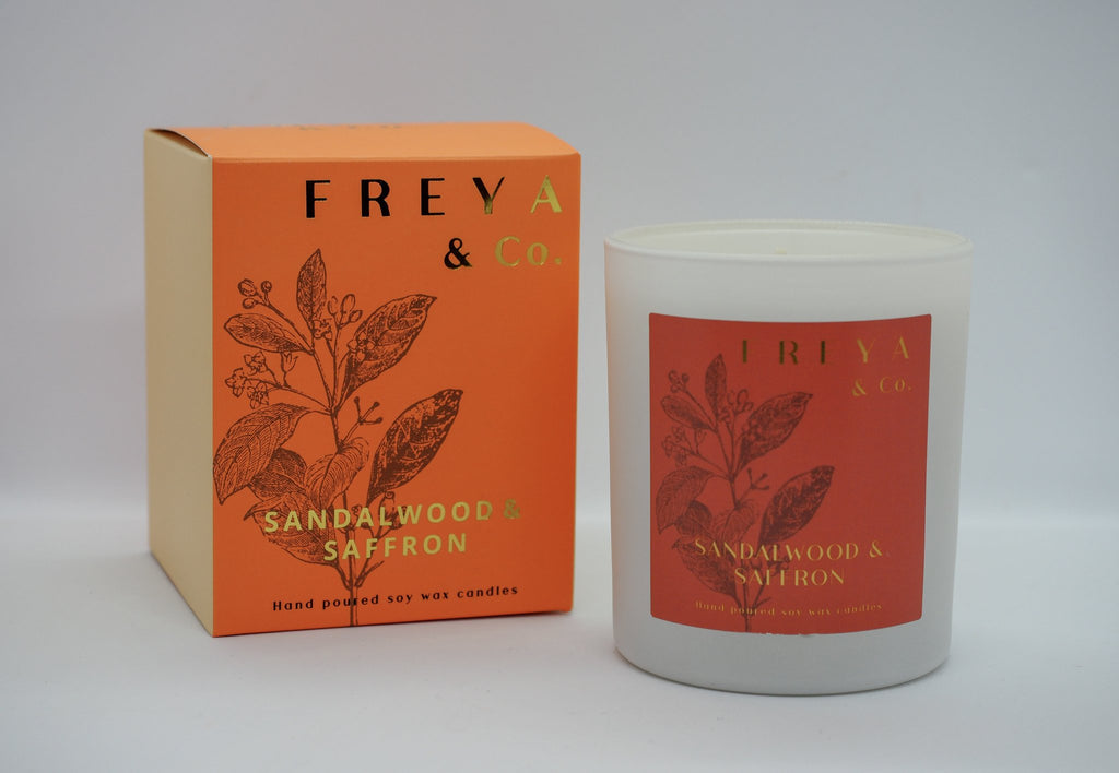 Freya & Co Classic Collection Candle - Sandalwood & Saffron