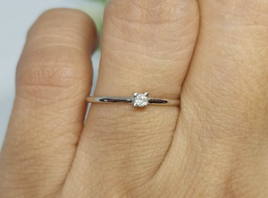 Daisy Dainty Engagement Ring