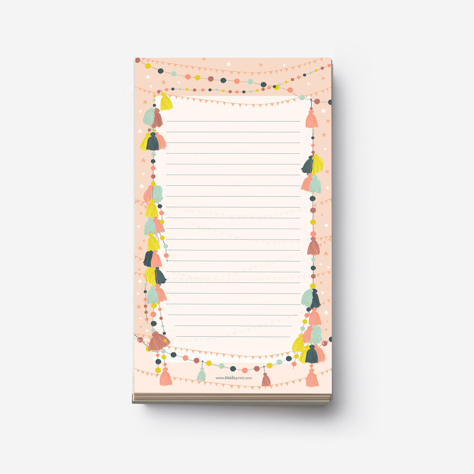 COLORFUL TASSEL notepad