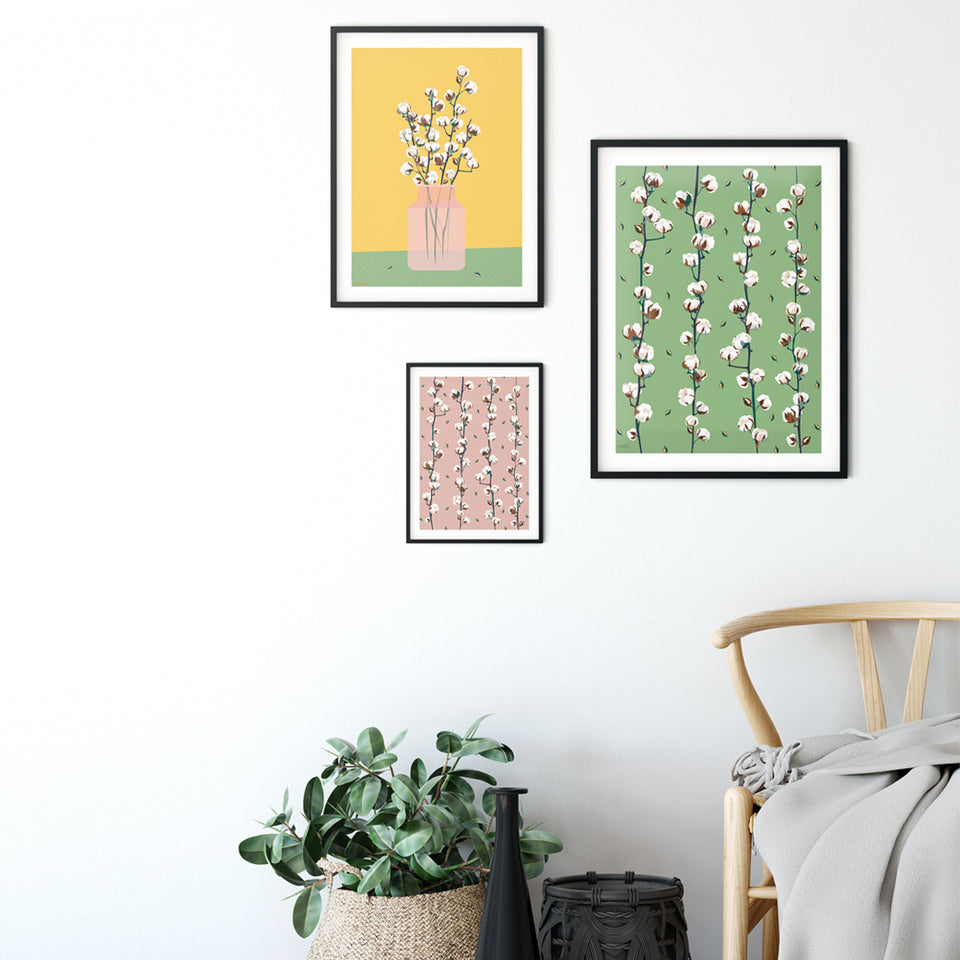 COTTON BOUQUET poster - Pink