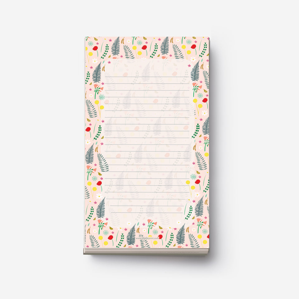 FIELD FLOWERS notepad