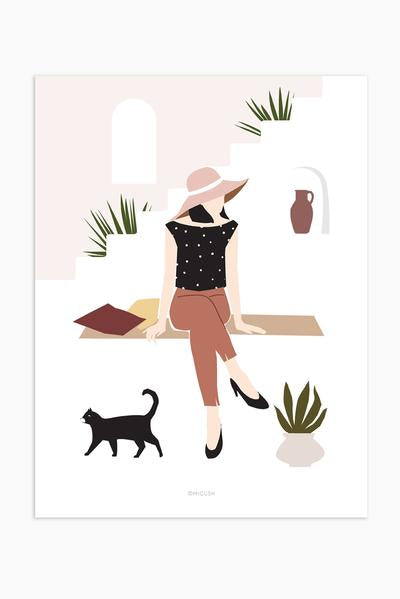 Modern Women Print - Palm desert lady