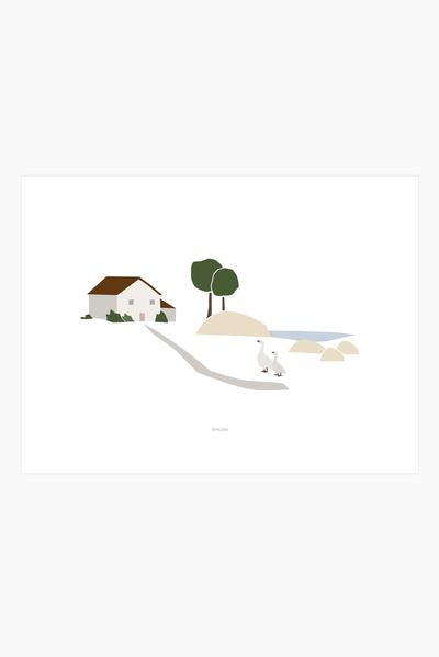 Slow life print - Ducks